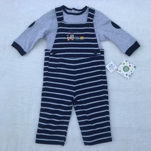 Little Me Overalls Set Size 9 Months NWT